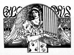 Ex libris d'organiste. Source : http://data.abuledu.org/URI/52b3476f-ex-libris-d-organiste