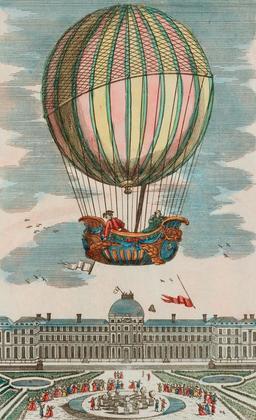 Expérience du globe aérostatique aux Tuileries en 1783. Source : http://data.abuledu.org/URI/50acd237-experience-du-globe-aerostatique-aux-tuileries-en-1783