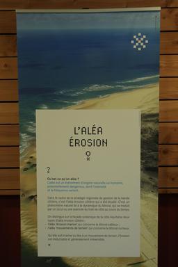 Exposition sur l'érosion côtière en Aquitaine. Source : http://data.abuledu.org/URI/55c133d5-exposition-sur-l-erosion-cotiere-en-aquitaine