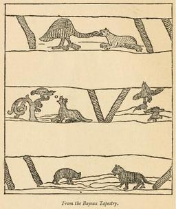 Fables d'Ésope dans la tapisserie de Bayeux. Source : http://data.abuledu.org/URI/47f5f8d3-fables-d-esope-dans-la-tapisserie-de-bayeux