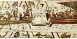 Fables d'Ésope sur la tapisserie de Bayeux. Source : http://data.abuledu.org/URI/51963f25-fables-d-esope-sur-la-tapisserie-de-bayeux