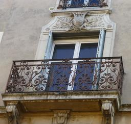 Façade art nouveau à Nancy. Source : http://data.abuledu.org/URI/5819c667-facade-art-nouveau-a-nancy