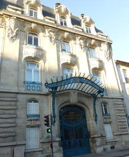 Façade art nouveau de la CCI à Nancy. Source : http://data.abuledu.org/URI/5819bcd6-facade-art-nouveau-de-la-cci-a-nancy