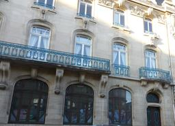 Façade art nouveau de la CCSI à Nancy. Source : http://data.abuledu.org/URI/5819bc2c-facade-art-nouveau-de-la-ccsi-a-nancy