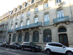 Façade art nouveau de la CCSI à Nancy. Source : http://data.abuledu.org/URI/5819bc55-facade-art-nouveau-de-la-ccsi-a-nancy
