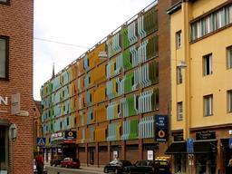 Façade op art à Ankara. Source : http://data.abuledu.org/URI/53860f61-facade-op-art-a-ankara