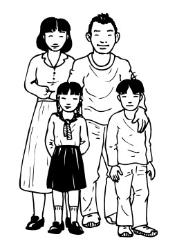 Famille asiatique. Source : http://data.abuledu.org/URI/50259a56-famille-asiatique