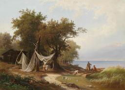 Famille de pêcheurs sur la rive du Lac Léman. Source : http://data.abuledu.org/URI/52108dec-famille-de-pecheurs-sur-la-rive-du-lac-leman