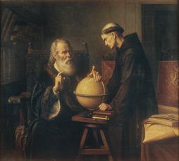Galilée à l'Université de Padoue. Source : http://data.abuledu.org/URI/5372189b-felix-parra-galileo-demonstrating-the-new-astronomical-theories-at-the-university-of-padua-google-art-project-jpg