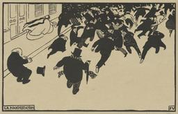 Manifestation de rue en 1893. Source : http://data.abuledu.org/URI/535ecd61-felix-vallotton-la-manifestation-google-art-project-jpg