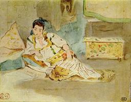 Femme d'Alger. Source : http://data.abuledu.org/URI/51a4e4e0-femme-d-alger-