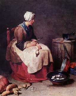 Femme préparant des navets. Source : http://data.abuledu.org/URI/50205bb9-femme-preparant-des-navets