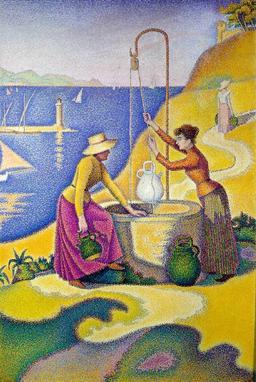 Femmes au puits. Source : http://data.abuledu.org/URI/51b848ae-femmes-au-puits