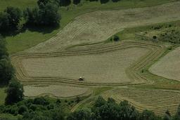 Fenaison dans le Cantal. Source : http://data.abuledu.org/URI/5156ddb6-fenaison-dans-le-cantal