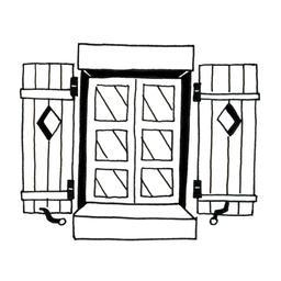 Fenêtre à volets en bois. Source : http://data.abuledu.org/URI/52d72d67-fenetre-a-volets-en-bois