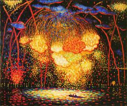 Feu d'artifice en 1909. Source : http://data.abuledu.org/URI/538729f8-feu-d-artifice-en-1909