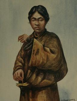 Filage de la laine au Tibet. Source : http://data.abuledu.org/URI/512a3d99-filage-de-la-laine-au-tibet