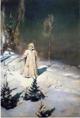 Fille des neiges en 1899. Source : http://data.abuledu.org/URI/54b97b06-fille-des-neiges-en-1899
