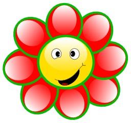 Fleur à 8 pétales rouges. Source : http://data.abuledu.org/URI/504ba0ce-fleur-a-8-petales-rouges