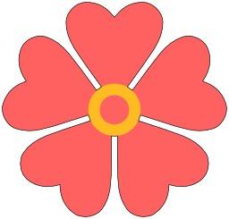 Fleur à cinq coeurs. Source : http://data.abuledu.org/URI/53935b3e-fleur-a-cinq-coeurs