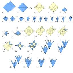 Fleur en origami. Source : http://data.abuledu.org/URI/518ff2b9-fleur-en-origami