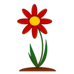 Fleur rouge. Source : http://data.abuledu.org/URI/47f582b4-fleur-rouge