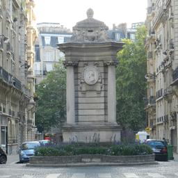 Fontaine place Georges Mulot à Paris. Source : http://data.abuledu.org/URI/509fde91-fontaine-place-georges-mulot-a-paris