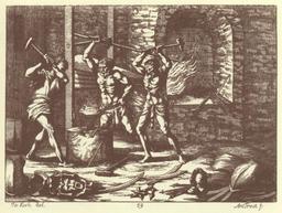 Forgerons du XVIIème siècle. Source : http://data.abuledu.org/URI/5156fd13-forgerons-du-xviieme-siecle