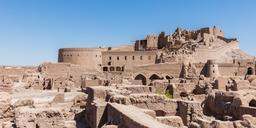Forteresse en terre crue de Bam. Source : http://data.abuledu.org/URI/58f545a9-forteresse-en-terre-crue-de-bam
