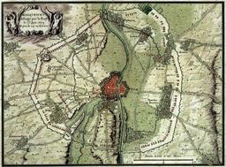 Fortifications autour de Maastricht en 1673. Source : http://data.abuledu.org/URI/53f4c019-fortifications-autour-de-maastricht-en-1673