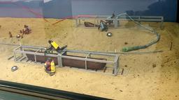 Fouilles archéologiques dans le lac de Sanguinet. Source : http://data.abuledu.org/URI/55619613-fouilles-archeologiques-dans-le-lac-de-sanguinet