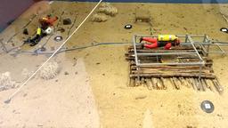 Fouilles archéologiques dans le lac de Sanguinet. Source : http://data.abuledu.org/URI/55619dbe-fouilles-archeologiques-dans-le-lac-de-sanguinet