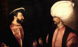 Francois I et le sultan Soliman autour de 1530. Source : http://data.abuledu.org/URI/53088602-francois-i-et-le-sultan-soliman-autour-de-1530