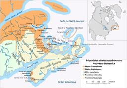Francophones et anglophones du Nouveau Brunswick. Source : http://data.abuledu.org/URI/52bc5918-francophones-et-anglophones-du-nouveau-brunswick