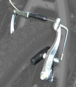Frein de vélo de type v-brake. Source : http://data.abuledu.org/URI/50430f6a-frein-de-velo-de-type-v-brake
