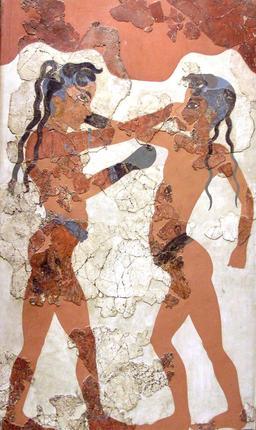 Fresque antique des enfants boxeurs. Source : http://data.abuledu.org/URI/5388c234-fresque-antique-des-enfants-boxeurs