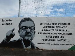 Fresque Salvador Allende à Pessac - 1. Source : http://data.abuledu.org/URI/54c8066c-fresque-salvador-allende-a-pessac-1