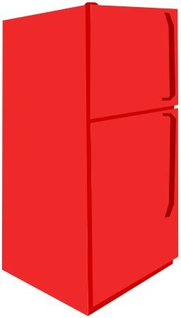 Frigidaire et congélateur rouges. Source : http://data.abuledu.org/URI/5101beb8-frigidaire-et-congelateur-rouges