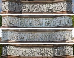 Frise du Parnasse de l'Albert Memorial. Source : http://data.abuledu.org/URI/54d9b482-frise-du-parnasse-de-l-albert-memorial