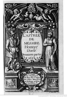 Fronstispice de l'Astrée en 1612. Source : http://data.abuledu.org/URI/530b5573-fronstispice-de-l-astree-en-1612