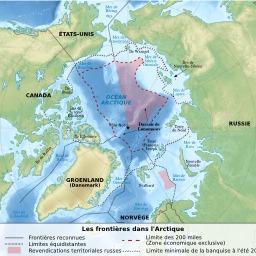 Frontières dans l'Arctique. Source : http://data.abuledu.org/URI/51cc9a8c-frontieres-dans-l-arctique