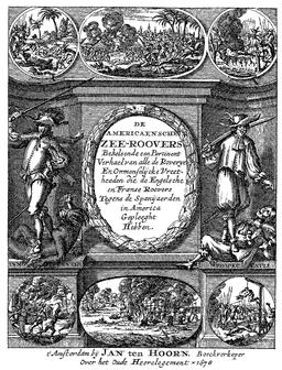 Frontispice d'Histoires d'aventuriers en 1678. Source : http://data.abuledu.org/URI/52c05f48-frontispiece-d-histoires-d-aventuriers-en-1678