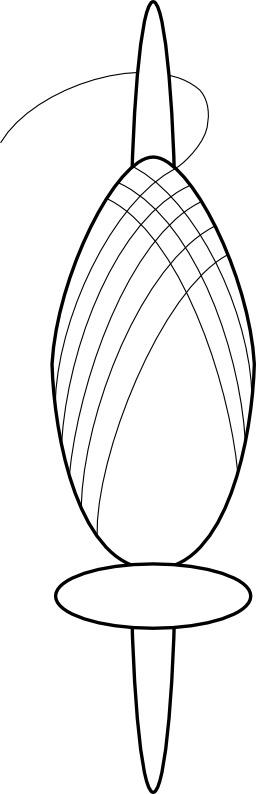 Fuseau et fusaïole. Source : http://data.abuledu.org/URI/51229bb5-fuseau-et-fusaiole