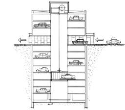 Garage avec ascenceur. Source : http://data.abuledu.org/URI/534c3e8c-garage-avec-ascenceur