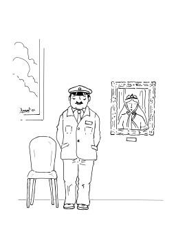 Gardien de musée. Source : http://data.abuledu.org/URI/5026528a-gardien-de-musee