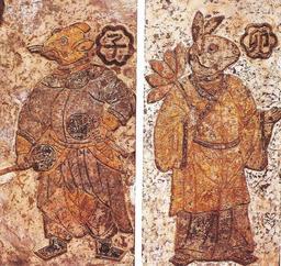 Gardiens chinois du jour et de la nuit. Source : http://data.abuledu.org/URI/52ec3936-gardiens-chinois-du-jour-et-de-la-nuit