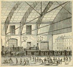Gare de chemin de fer en 1877. Source : http://data.abuledu.org/URI/524dc055-gare-de-chemin-de-fer-en-1877