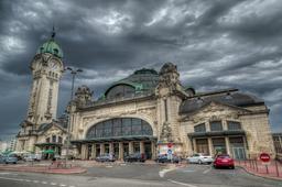 Gare de Limoges-Bénédictins et son campanile. Source : http://data.abuledu.org/URI/54a82baa-gare-de-limoges-benedictins-et-son-campanile