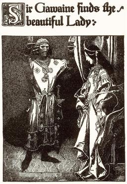 Gauvain et la belle dame en 1903. Source : http://data.abuledu.org/URI/5950447c-gauvain-et-la-belle-dame-en-1903