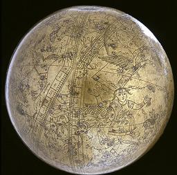 Globe céleste islamique. Source : http://data.abuledu.org/URI/5019a202-globe-celeste-islamique